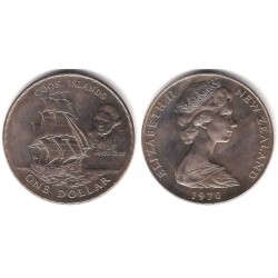 (43) Nueva Zelanda. 1970. 1 Dollar (EBC)