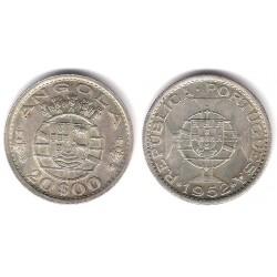 (74) Angola. 1952. 20 Escudos (EBC) (Plata)