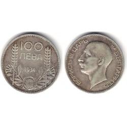 (45) Bulgaria. 1934. 100 Leva (MBC) (Plata)