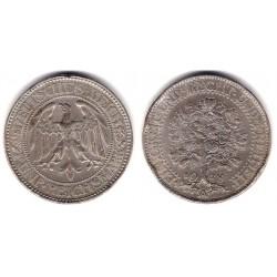 (56) Imperio Alemán (Weimar). 1928(A). 5 Reichmark (MBC+) (Plata)