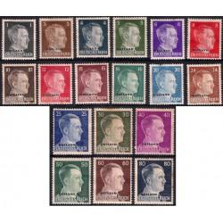 Imperio Alemán (III Reich - OSTLAND). 1941-45. Serie de 18 Valores (Usado)