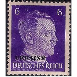 Imperio Alemán (III Reich - Ukranie). 1941-45. 6 Pfennig (Nuevo, con marca de fijasellos)