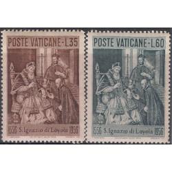 (212-213) Ciudad del Vaticano. 1956. 35 + 60 Lira. Ignacio de Loyola (Nuevo)