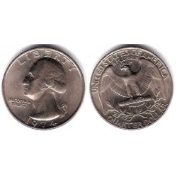 (164a) Estados Unidos de América. 1974. Quarter Dollar (MBC+)
