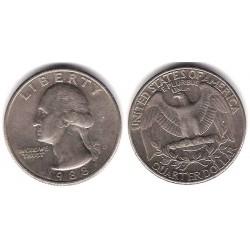 (A164a) Estados Unidos de América. 1988(D). Quarter Dollar (BC)