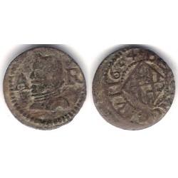 Felipe IV. 1634. Dinero (MBC) Ceca de Barcelona AR