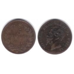(3.2) Italia. 1861. 5 Centesimi (BC+)