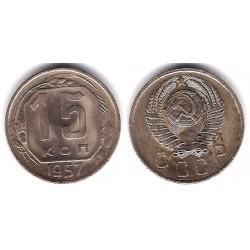 (Y124) Unión Soviética. 1957. 15 Kopeks (MBC)