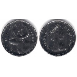 (74) Canadá. 1987. 25 Cents (Proof)