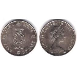 (46) Hong Kong. 1980. 5 Dollars (SC)