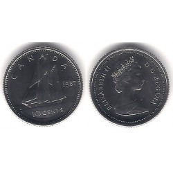 (77.2) Canadá. 1987. 10 Cents (Proof)