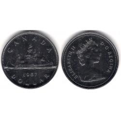 (120.1) Canadá. 1987. 1 Dollar (Proof)