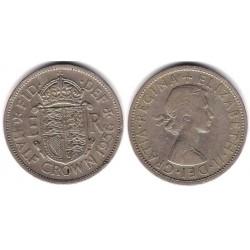 (907) Gran Bretaña. 1956. Half Crown (BC+)