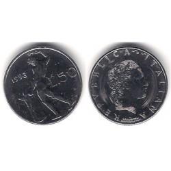 (95.2) Italia. 1993(R). 50 Lira (EBC)