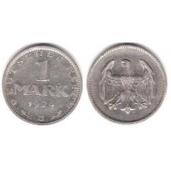 (42) Imperio Alemán (Weimar). 1924(J). 1 Mark (MBC+) (Plata)
