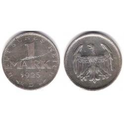 (42) Imperio Alemán (Weimar). 1925(D). 1 Mark (MBC) (Plata)