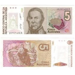 (324b) Argentina. 1986-89. 5 Australes (SC)