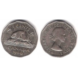 (50a) Canadá. 1960. 5 Cents (MBC)