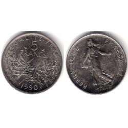 (926a.1) Francia. 1990. 5 Francs (MBC)