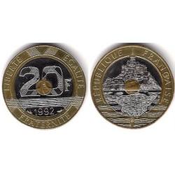 (1008.1) Francia. 1992. 20 Francs (MBC+)
