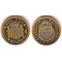 España. 2000. 5000 Pesetas (EBC+) (Oro)