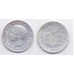 Alfonso XIII. 1896. 40 Centavos (BC) (Plata) Ceca de Puerto Rico SG-V
