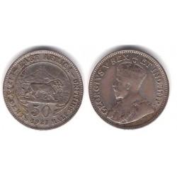 (20) África Oriental. 1921. 50 Cents (MBC-) (Plata)