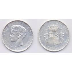 Alfonso XIII. 1895. 1 Peso (EBC) (Plata) Ceca de Puerto Rico PG-V