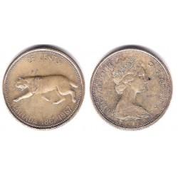 (68) Canadá. 1967. 25 Cents (EBC) (Plata)