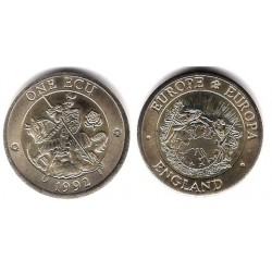 Gran Bretaña. 1992. 1 Ecu (EBC+)