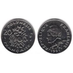 (9) Polinesia Francesa. 1991. 20 Francs (EBC+)
