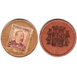 España (II República). 1937. 25 Céntimos (BC+)