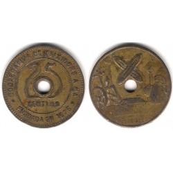Cooperativa de Teixidors A. MA.  25 Céntimos (MBC)