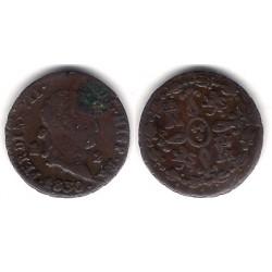 Fernando VII. 1830. 2 Maravedi (BC) Ceca de Segovia