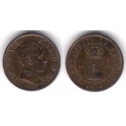Alfonso XIII. 1906*(6). 1 Céntimo (EBC) Ceca de Madrid SL-V