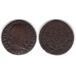 Fernando VII. 1827. 2 Maravedi (BC+) Ceca de Segovia