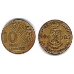 (52) República de Guinea. 1985. 10 Franc (BC)