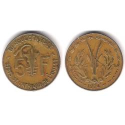 (2a) Estados África Oeste. 1974. 5 Francs (MBC)
