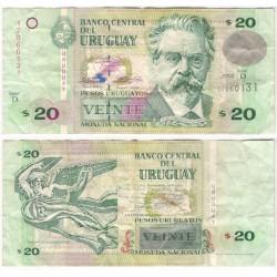 (83A). Uruguay. 2003. 20 Pesos (MBC)