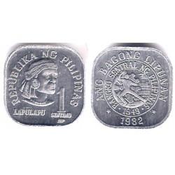 (224) Filipinas. 1982. 1 Piso (SC)
