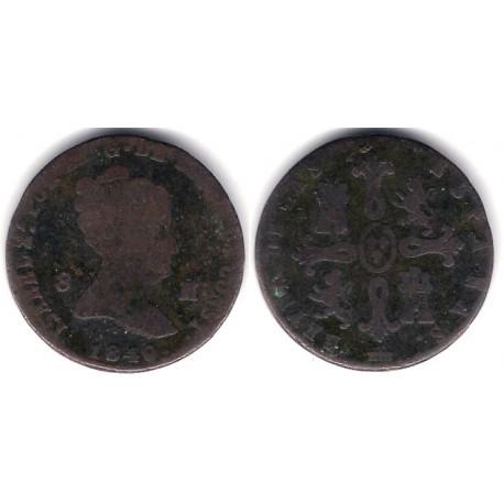 Isabel II. 1840. 8 Maravedi (BC-) Ceca de Segovia