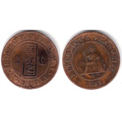 (1) Indochina Francesa. 1885(A). 1 Centime (BC)