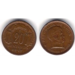 (177) Chile. 1947. 20 Centavos (MBC+)
