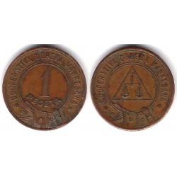 Cooperativa Obrera Manresana. 1937. 1 Peseta (MBC)