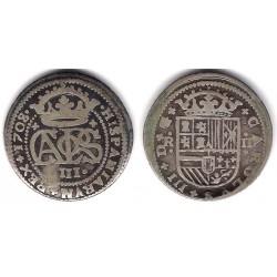 Carlos III (ARch. Austria). 1708. 2 Reales (BC) (Plata) Ceca de Barcelona