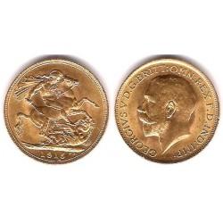 Gran Bretaña. 1915. 1 Soberano (SC) (Oro)