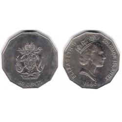 (29) Islas Salomón. 1990. 50 Céntimos (SC)