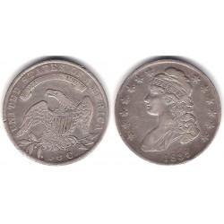 (37) Estados Unidos de América. 1835. 50 Cents (MBC) (Plata)