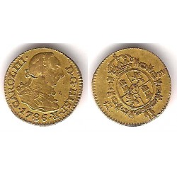 Carlos III. 1786. ½ Escudo (BC) (Oro) Ceca de Madrid DV