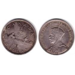 (30) Canadá. 1935. 1 Dollar (EBC) (Plata)